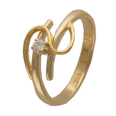 Золотое кольцо Ювелирное изделие 01K683215