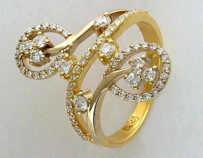 Золотое кольцо Ювелирное изделие 01K683222