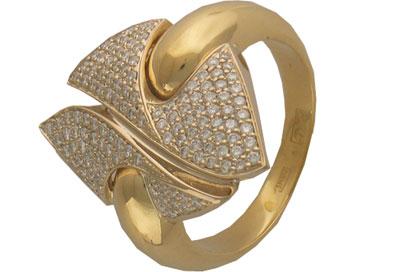 Золотое кольцо Ювелирное изделие 01K683393 ювелирное изделие 6202 or