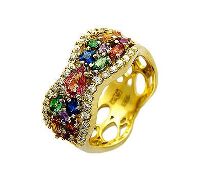Золотое кольцо Ювелирное изделие 01K684250