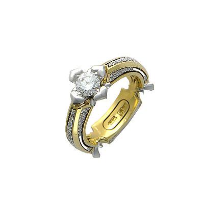 Золотое кольцо Ювелирное изделие 01K684809L цена
