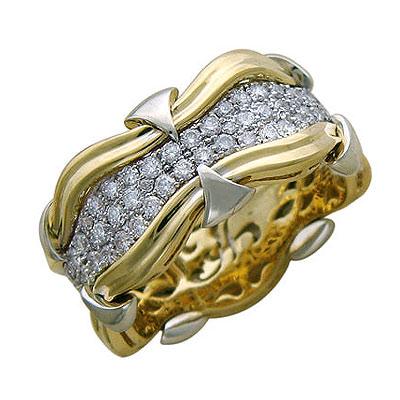 Золотое кольцо Ювелирное изделие 01K685740L золотое кольцо ювелирное изделие 01k675233l