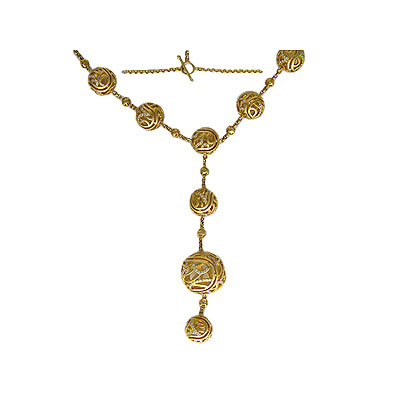 Золотое колье Ювелирное изделие 01L640656
