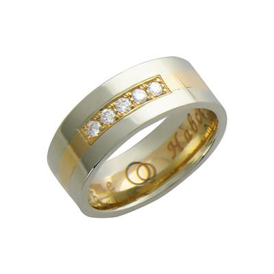 Ювелирное изделие 01O660079 обручальное кольцо эстет золотое обручальное кольцо с бриллиантами est01о620227b3 19 5