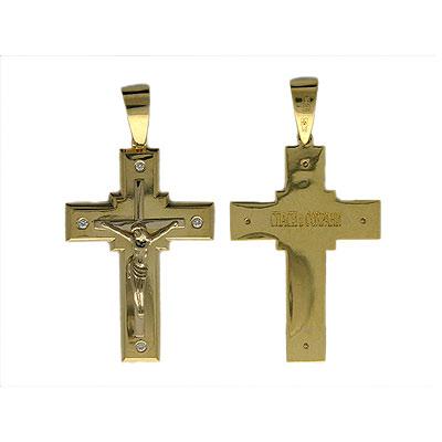 Золотой крест Ювелирное изделие 01R680617 золотой крест ювелирное изделие 123570