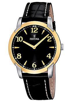 Festina Часы Festina 16508.3. Коллекция Classic 2016 military watch men stainless steel leather band analog quartz clock wrist watch fashion luxury top brand clock quality gift