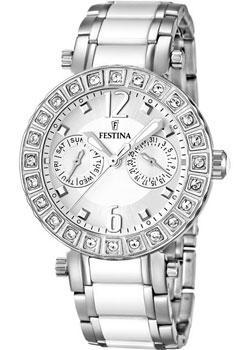 Festina Часы Festina 16587.1. Коллекция Ceramic браслет стальной со вставками из натурального дерева