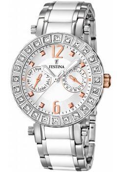Festina Часы Festina 16587.2. Коллекция Ceramic браслет стальной со вставками из натурального дерева
