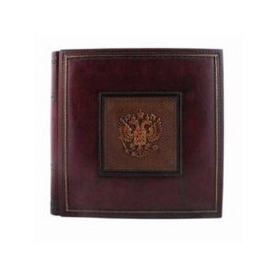 Florentia Фотоальбом кожаный Российский герб (30х30) - 50 л Florentia AL30848001 florentia 23 30 50 florentia al24848002