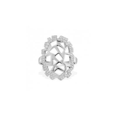Серебряное кольцо Ювелирное изделие A13779OX кольцо серебро куб цирконий