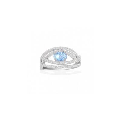 Серебряное кольцо Ювелирное изделие A14130TB кольцо серебро куб цирконий