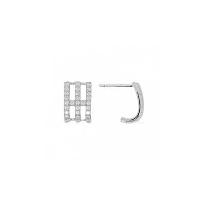 Серебряные серьги Ювелирное изделие AE7364OX серьги с подвесками jv серебряные серьги с ониксами куб циркониями и позолотой or 3644 a ox 001 pink