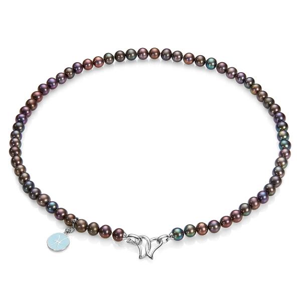 Серебряное колье Ювелирное изделие NP1119 kaiya si gaia spearl пресноводного жемчуга ожерелье свет хлеб жемчуг 10 11mm43cm