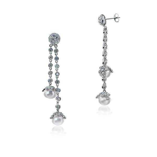Серебряные серьги Ювелирное изделие NP1138 esprit серебряные серьги с цирконами esco 90725 a