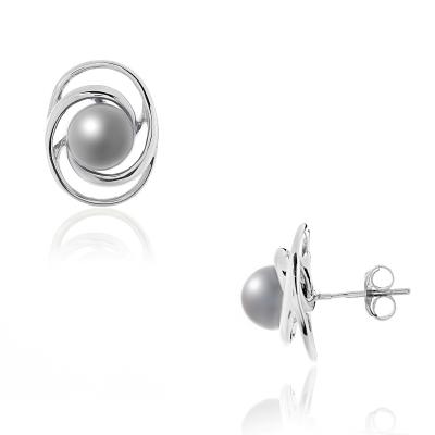 Серебряные серьги Ювелирное изделие NP1255 серьги herald percy круглые серьги в этническом стиле с жемчужиной