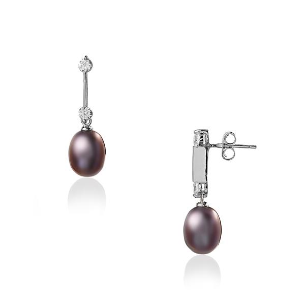 Серебряные серьги Ювелирное изделие NP1318 exclaim серьги серебряные с цирконами и жемчужинами