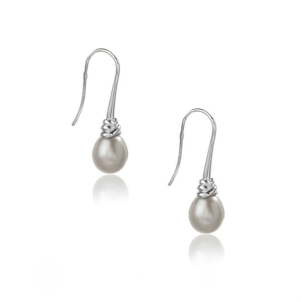 Серебряные серьги Ювелирное изделие NP1571 серьги с подвесками jv серебряные серьги с культив жемчугом и куб циркониями gpss 5622 e wp 001 wg