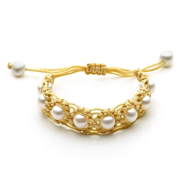 Золотые браслеты с жемчугом цена