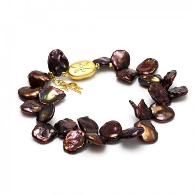 Золотой браслет Ювелирное изделие NP1862 жемчуг кеши в китае