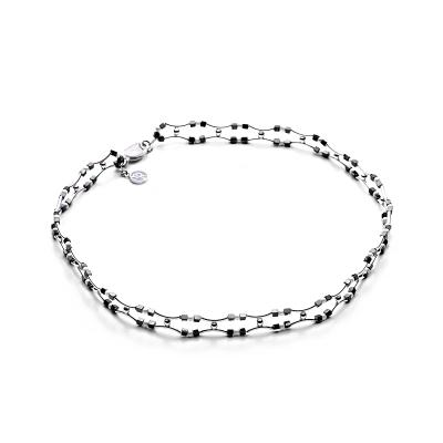 Серебряное колье Ювелирное изделие NP2303 браслет из магнитного гематита рококо