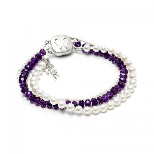 Золотой браслет Ювелирное изделие NP2396 браслет из аметиста фиолетовая полночь
