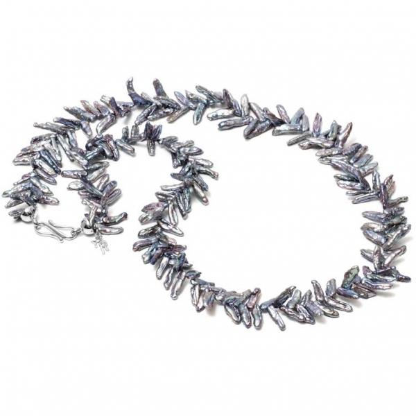 Серебряное колье Ювелирное изделие NP3821 жемчуг кеши в китае