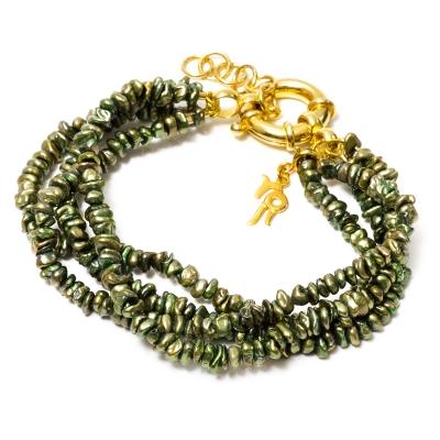 Золотой браслет Ювелирное изделие NP3839 жемчуг кеши в китае