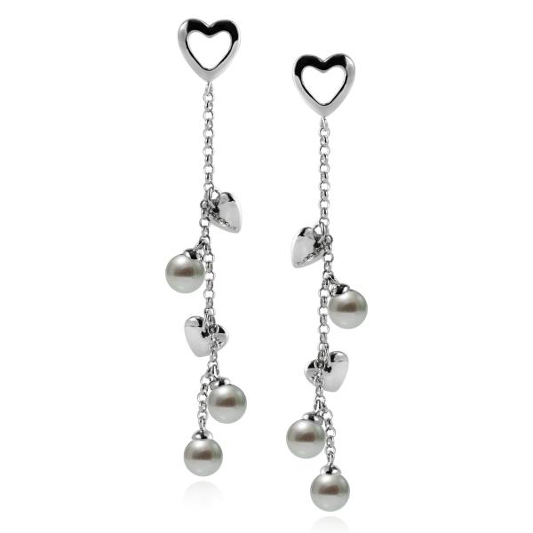 Серебряные серьги Ювелирное изделие NP3861 серьги с подвесками jv серебряные серьги с ювелирным стеклом и куб циркониями dm0804e us 001 wg
