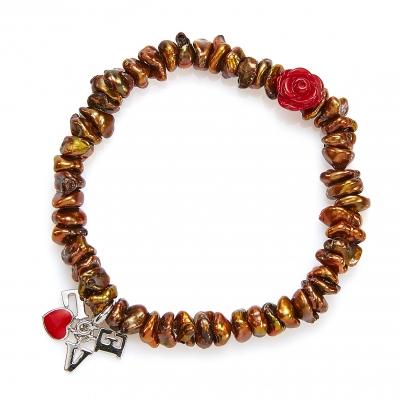 Золотой браслет Ювелирное изделие NP3932 подвеска роза мира для красной нити 37