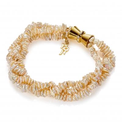 Золотой браслет Ювелирное изделие NP3936 жемчуг кеши в китае