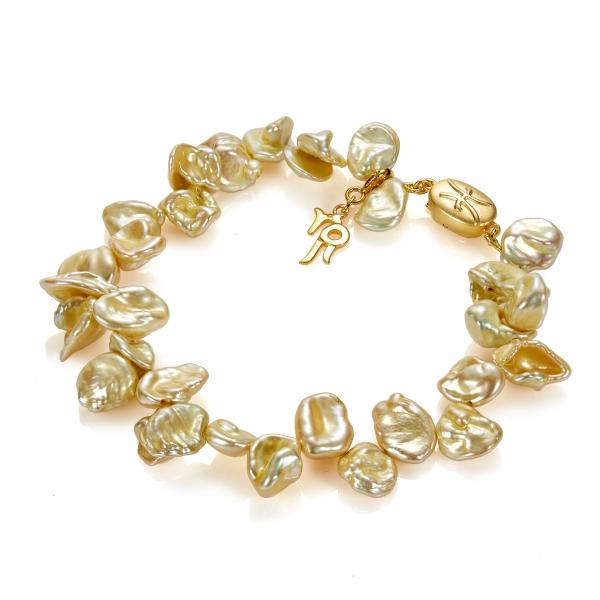 Золотой браслет Ювелирное изделие NP3938 жемчуг кеши в китае