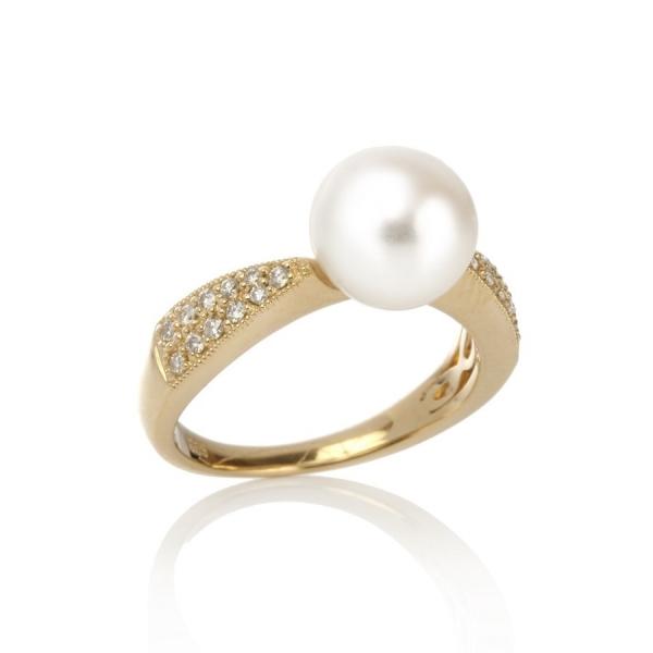Золотое кольцо Ювелирное изделие NP555 золотое кольцо c бриллиантами