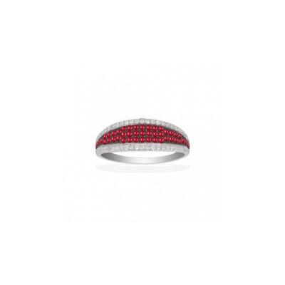 Золотое кольцо Ювелирное изделие Q14026RVB кольцо алмаз холдинг женское золотое кольцо с бриллиантами и рубином alm13237661 19