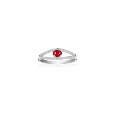 Золотое кольцо Ювелирное изделие Q14104RVB кольцо алмаз холдинг женское золотое кольцо с бриллиантами и рубином alm13237661 19