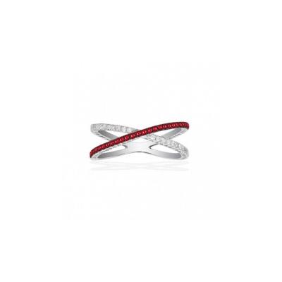 Золотое кольцо Ювелирное изделие Q14199RVB кольцо алмаз холдинг женское золотое кольцо с бриллиантами и рубином alm13237661 19