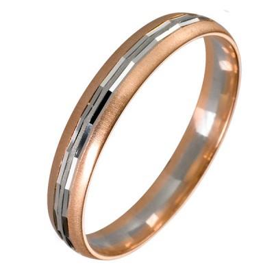 Ювелирное изделие 511738 жёсткий браслет из золота с алмазной гранью