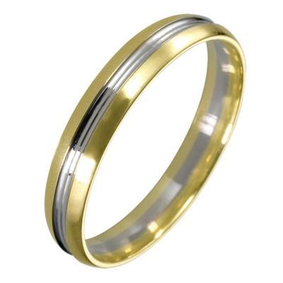 Ювелирное изделие 511748-1 жёсткий браслет из золота с алмазной гранью