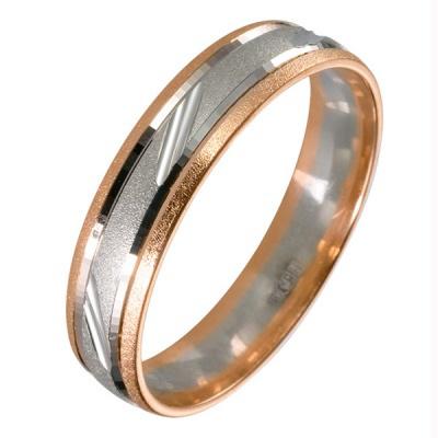 Ювелирное изделие 511823 обручальное кольцо эстет золотое обручальное кольцо с бриллиантами est01о620227b3 19 5