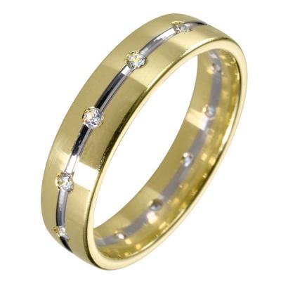 Ювелирное изделие 511878-1 обручальное кольцо эстет золотое обручальное кольцо с бриллиантами est01о620227b3 19 5