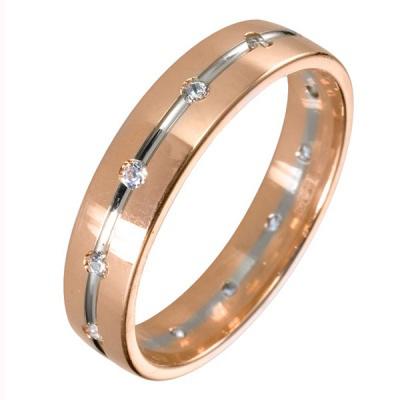 Ювелирное изделие 511878-2 обручальное кольцо эстет золотое обручальное кольцо с бриллиантами est01о620227b3 19 5