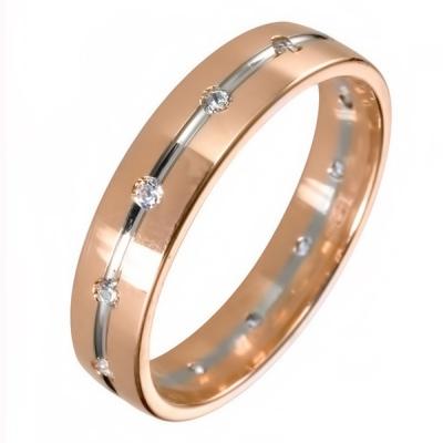 Ювелирное изделие 511878-2br обручальное кольцо эстет золотое обручальное кольцо с бриллиантами est01о620227b3 19 5