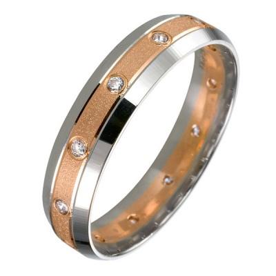 Ювелирное изделие 511883-br обручальное кольцо эстет золотое обручальное кольцо с бриллиантами est01о620227b3 19 5