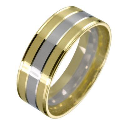 Ювелирное изделие 511923 жёсткий браслет из золота с алмазной гранью