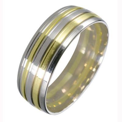 Ювелирное изделие 511987-1 жёсткий браслет из золота с алмазной гранью