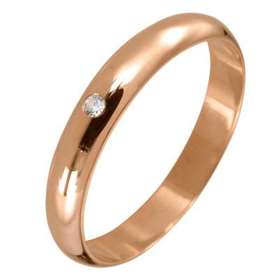 Ювелирное изделие 540001-br обручальное кольцо эстет золотое обручальное кольцо с бриллиантом est01о620077b2 18