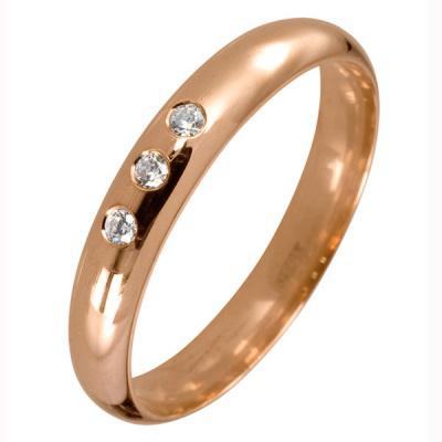 Ювелирное изделие 540003 обручальное кольцо эстет золотое обручальное кольцо с бриллиантами est01о620227b3 19 5