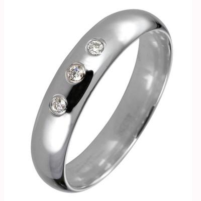 Ювелирное изделие 550003-B обручальное кольцо эстет золотое обручальное кольцо с бриллиантами est01о620227b3 19 5