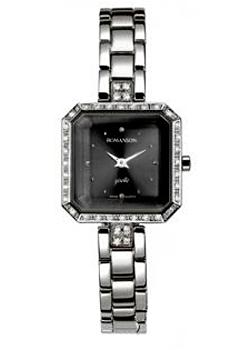 Romanson Часы Romanson RM9221QLW(BK). Коллекция Lady Jewelry romanson tm 7237 mw bk