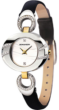 Romanson Часы Romanson RN0391QLC(WH). Коллекция Leather часы nixon time teller deluxe leather navy sunray brow