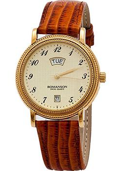 Romanson Часы Romanson TL0159SMG(GD). Коллекция Leather часы nixon time teller deluxe leather navy sunray brow
